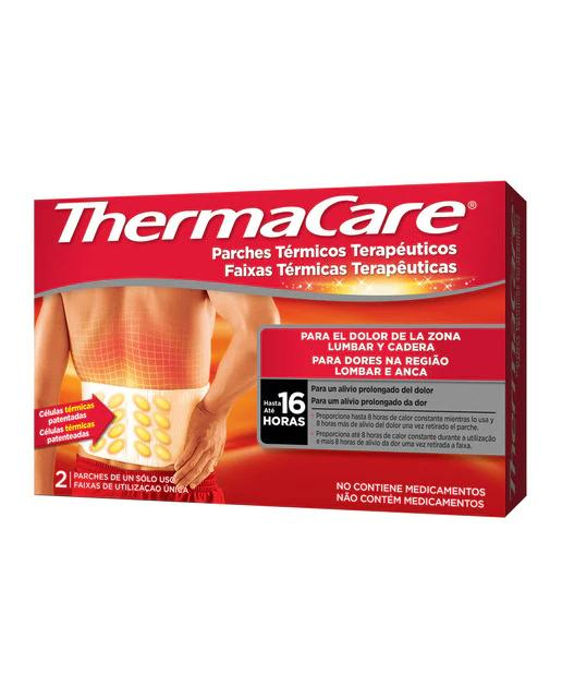 2 Parches Térmicos Zona Lumbar y Cadera Thermacare