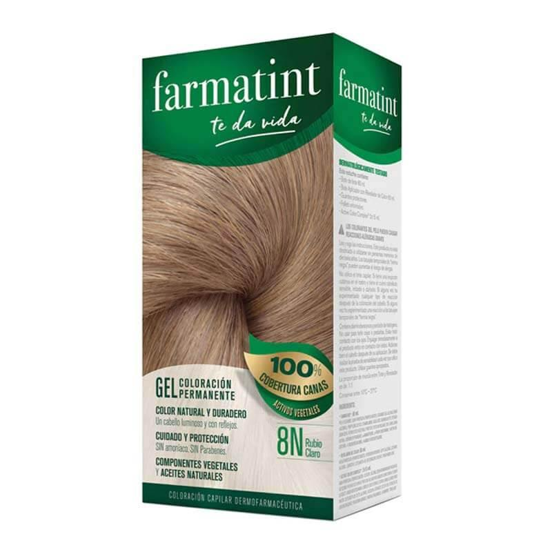 Farmatint 8N Rubio Claro Gel Coloración Permanente