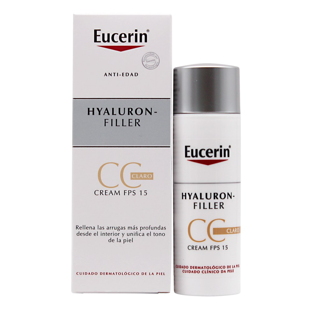 EUCERIN HYALURON FILLER CC CREAM COLOR CLARO 50ML