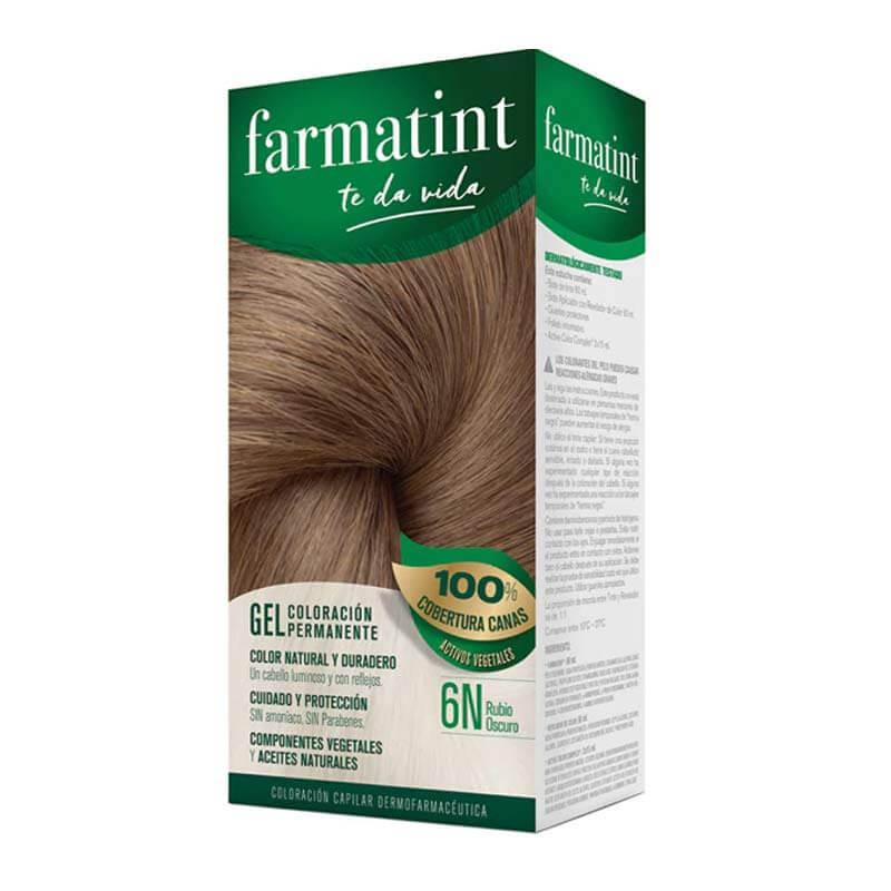 Farmatint 6N Rubio Oscuro Gel Coloración Permanente