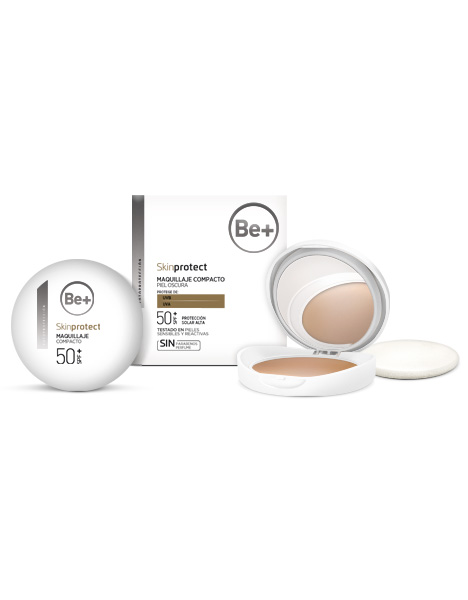 BE+ SKIN PROTECT MAQUILLAJE COMPACTO SPF50+ PIEL OSCURA 10GR