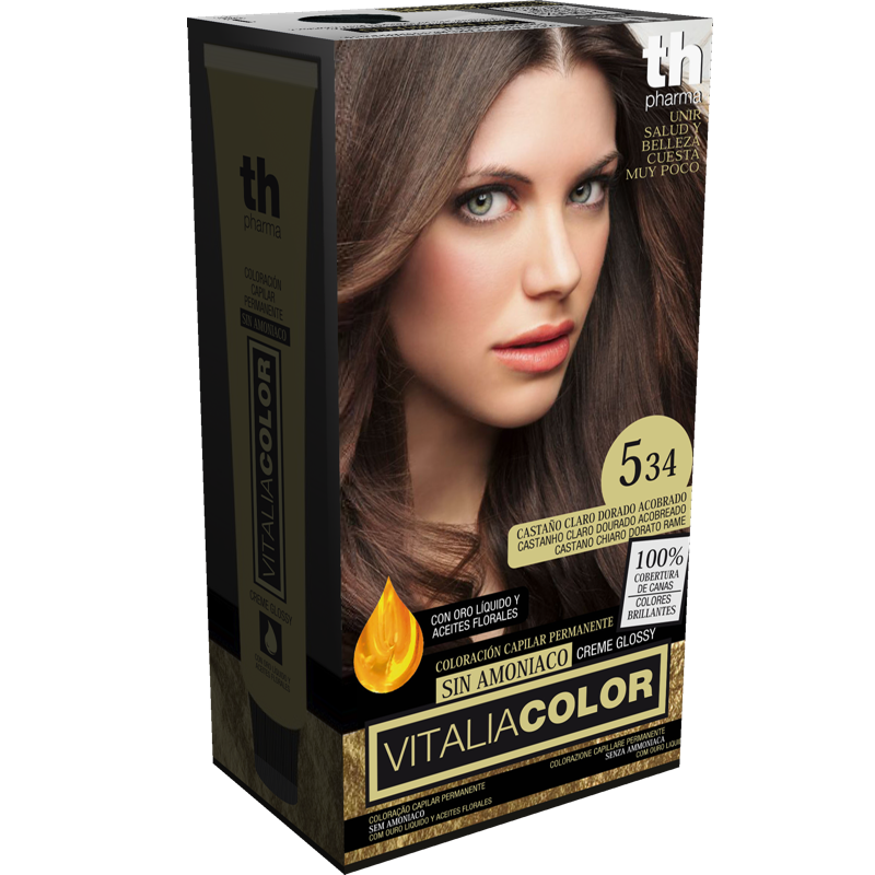 TH PHARMA VITALIA COLOR 5.34 DORADO ACOBRADO