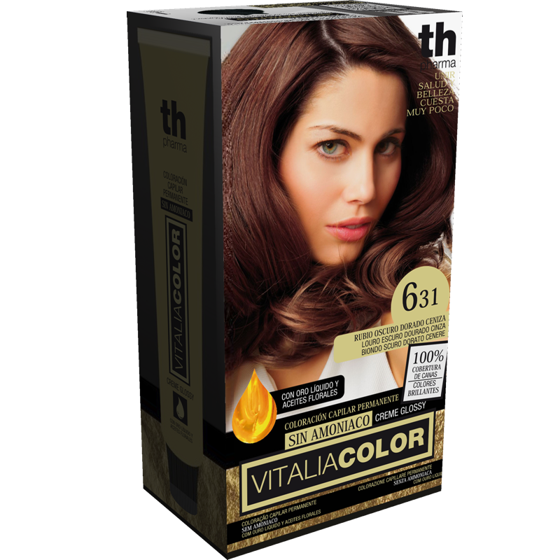 TH PHARMA VITALIA COLOR 6.31 RUBIO OSCURO DORADO CENIZO