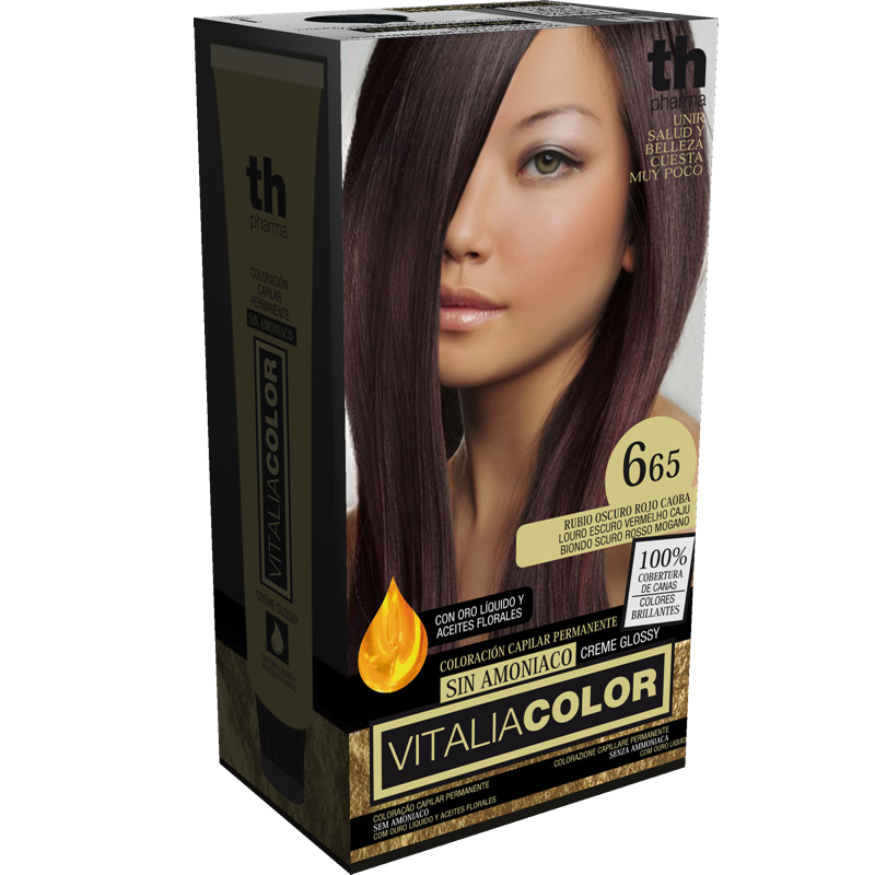 TH PHARMA VITALIA COLOR 6.65 RUBIO OSCURO ROJO CAOBA