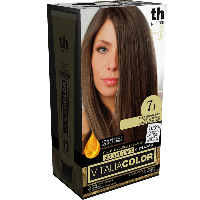 TH PHARMA VITALIA COLOR 7.1 RUBIO MEDIO CENIZA