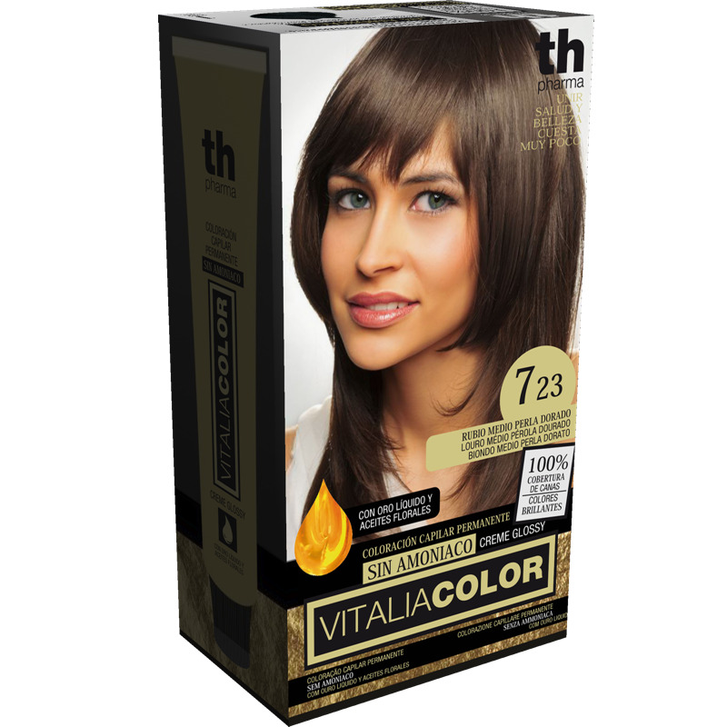 TH PHARMA VITALIA COLOR 7.23 RUBIO MEDIO PERLA DORADO