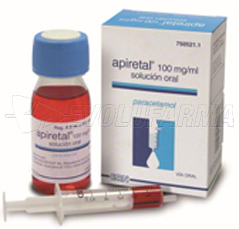 APIRETAL 100 mg/ml SOLUCION ORAL, 1 frasco de 60 ml