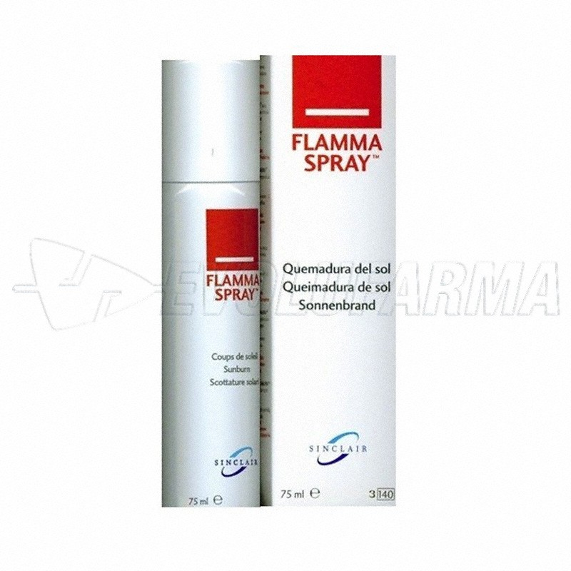 FLAMMASPRAY AFTER SUN. Envase de 75 ml.