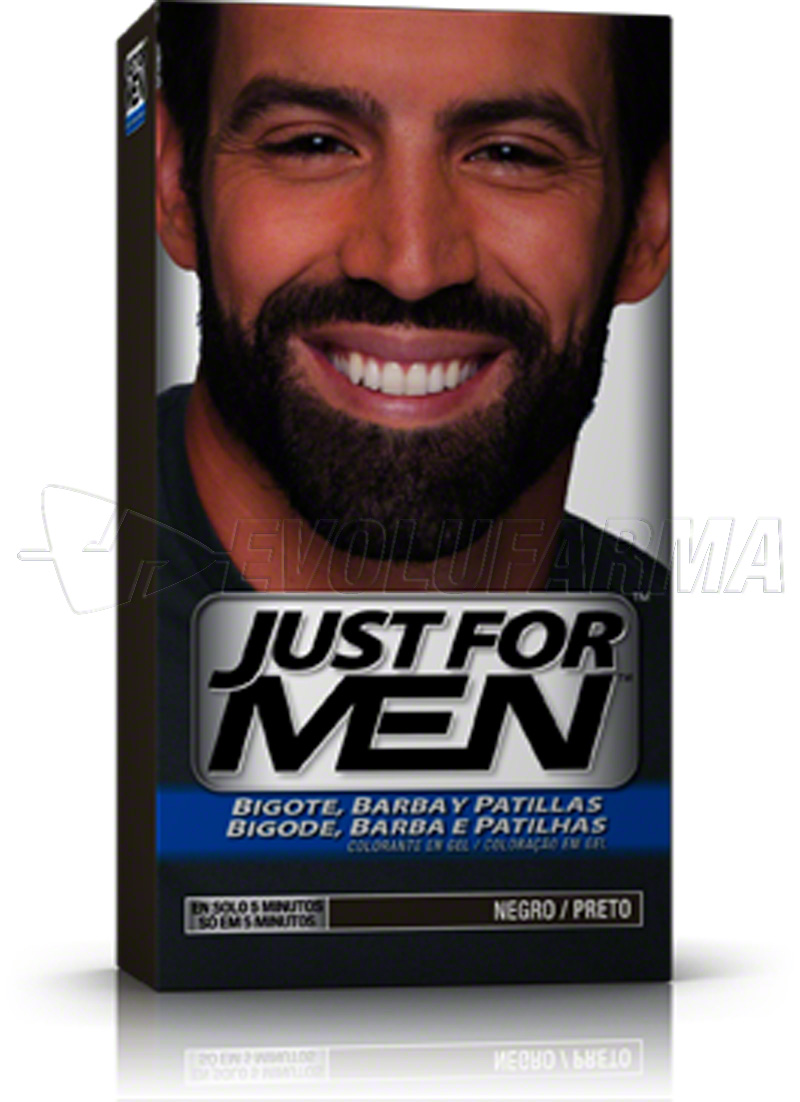 JUST FOR MEN COLORANTE EN GEL BIGOTE, BARBA Y PATILLAS NEGRO. 30 cc