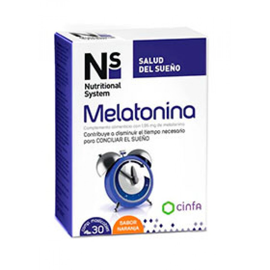 NS MELATONINA COMP MASTICABLES NARANJA 1.95 MG