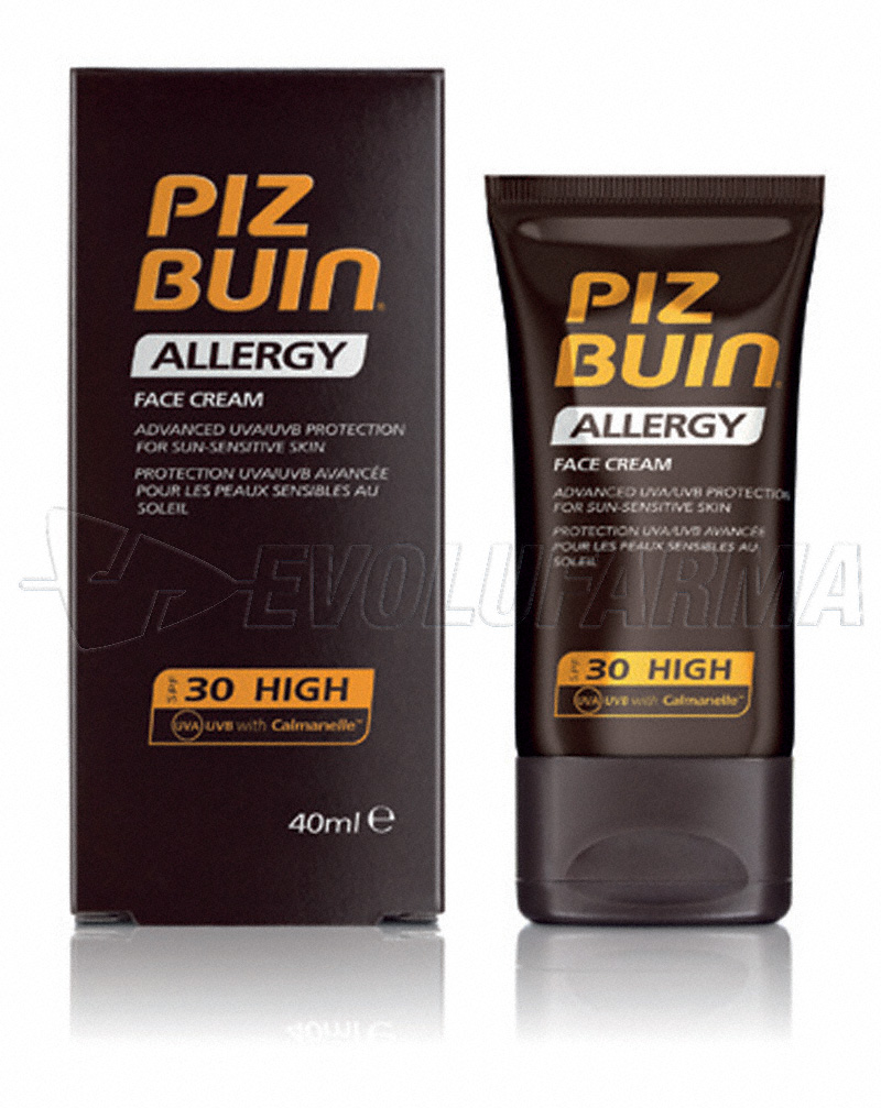 PIZ BUIN ALLERGY CREMA ROSTRO PIEL SENSIBLE SPF 30. 40 ml.