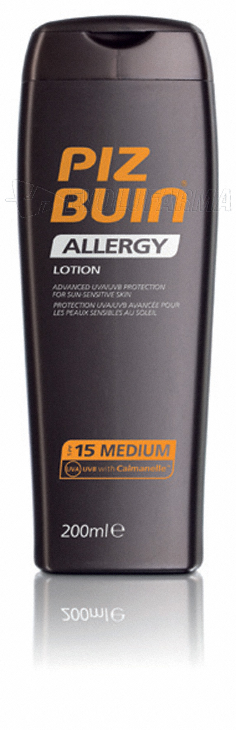 PIZ BUIN ALLERGY  LOCIÓN PIEL SENSIBLE SPF 15. 200 ml.