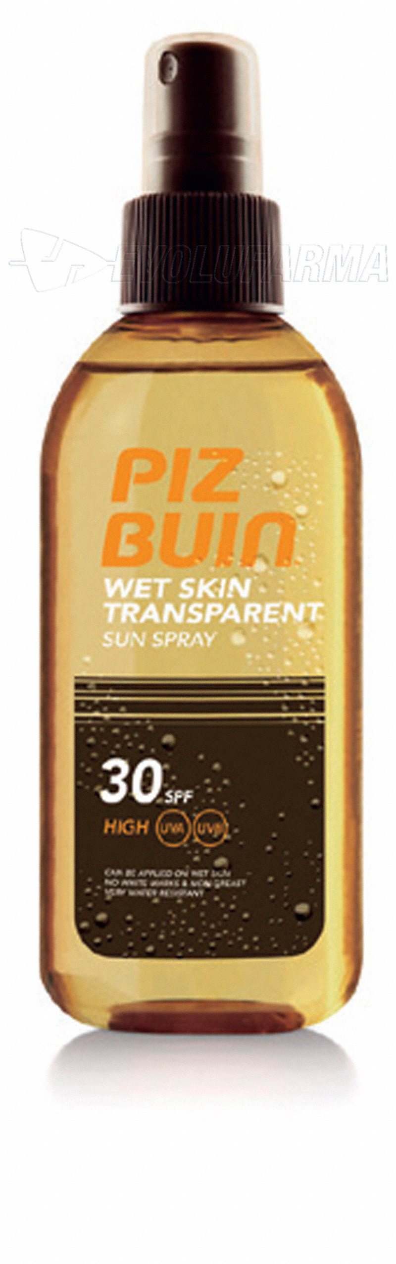 PIZ BUIN WET SKIN SPRAY SOLAR TRANSPARENTE SPF 30. 150 ml.