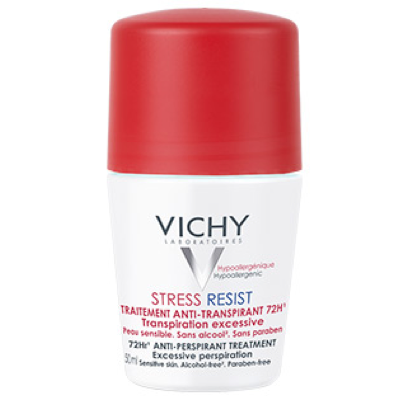 VICHY DÉODORANT STRESS RESIST. TRATAMINTO INTENSIVO ANTI-TRANSPIRANTE 72H. ROLL-ON 50ML