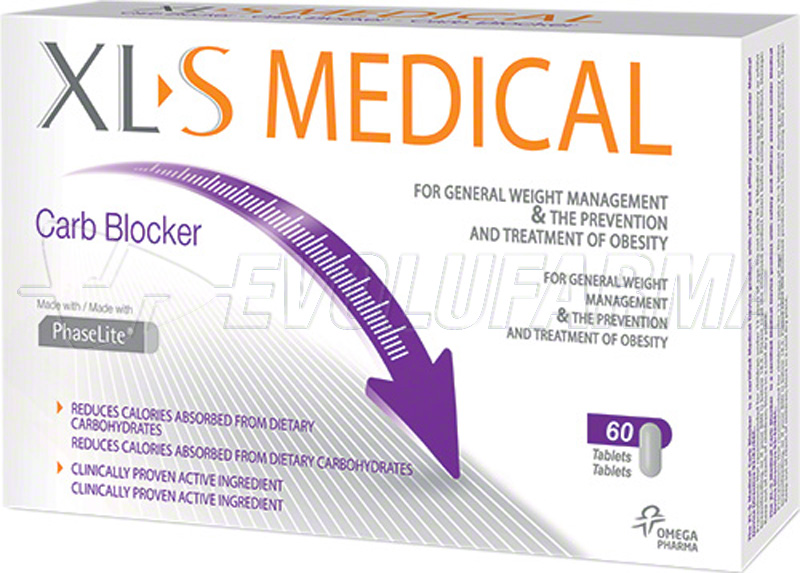 XL S MEDICAL CARBOBLOCKER. Envase de 60 Comprimidos.