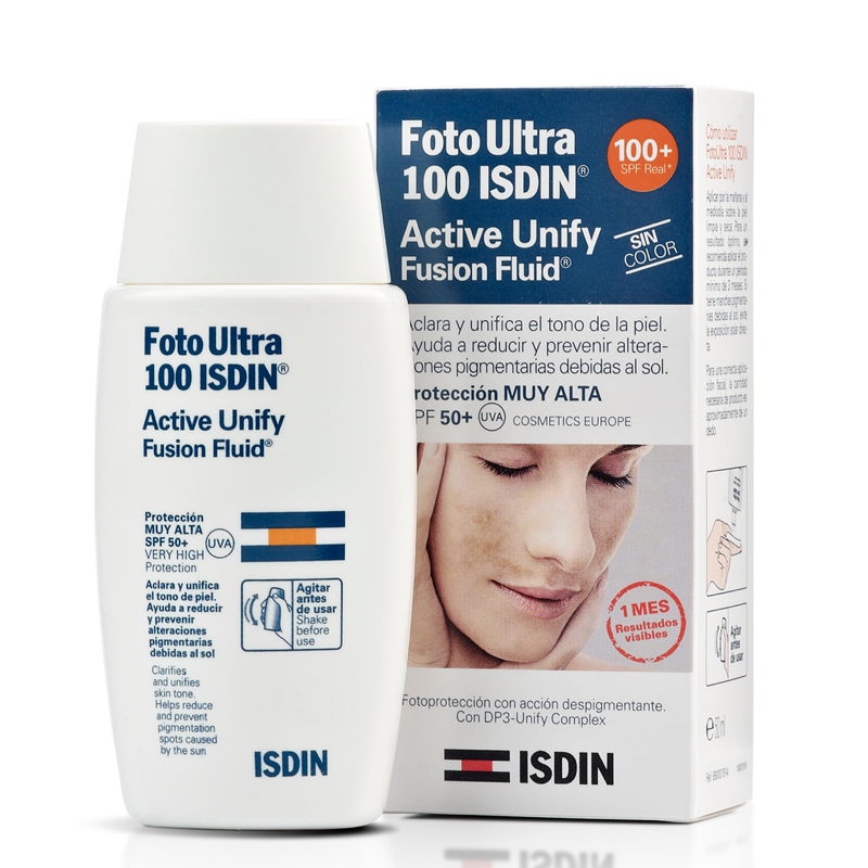 ISDIN FOTOPROTECTOR ULTRA 100 ACTIVE UNIFY SIN COLOR SPF 50+ 50ML