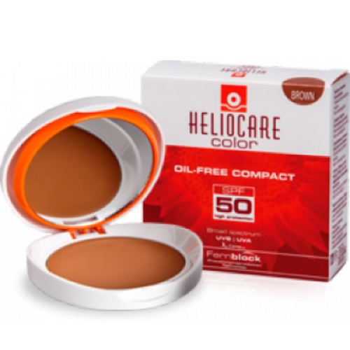 HELIOCARE  COLOR COMPACTO SPF50 OIL FREE BROWN 10GR
