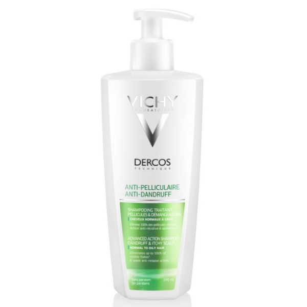 VICHY DERCOS ANTI-CASPA CABELLO GRASO 400ML