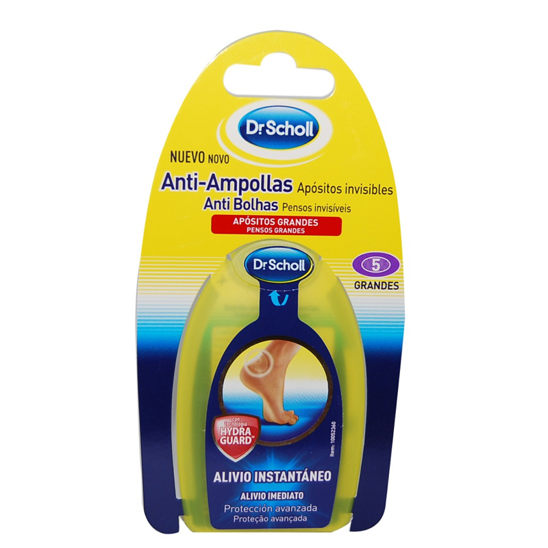 DR SCHOLL PARCHES AMPOLLAS HYDRAGEL  MED 5 UDS