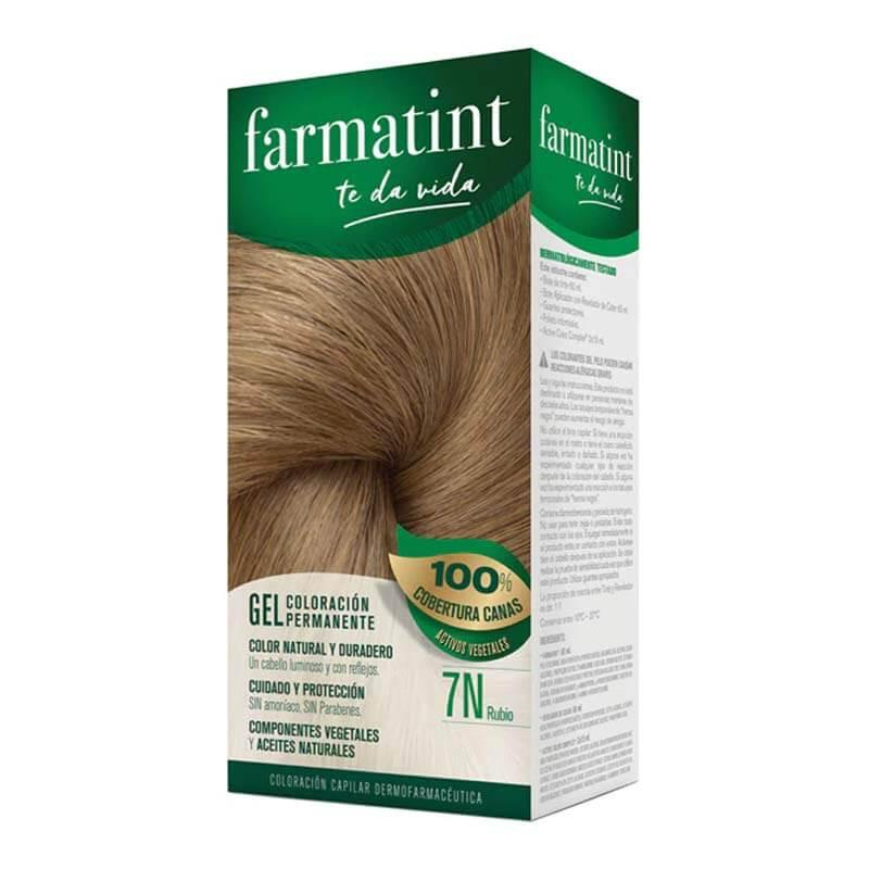 Farmatint 7N Rubio Gel Coloración Permanente