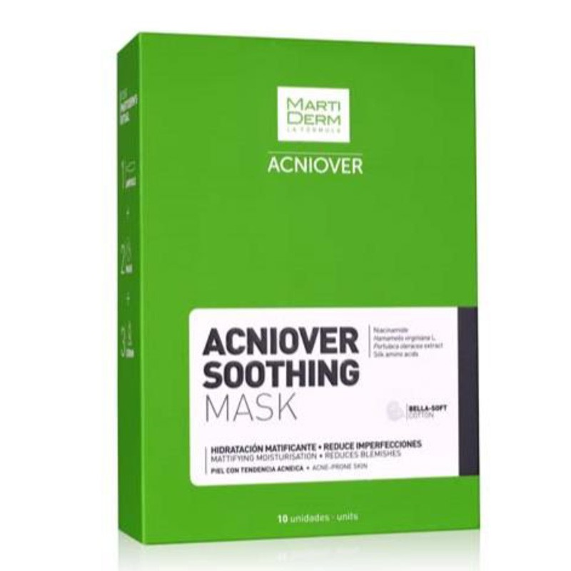 MARTIDERM ACNIOVER-SOOTHING MASK ENVASE 10 MASCARILLAS