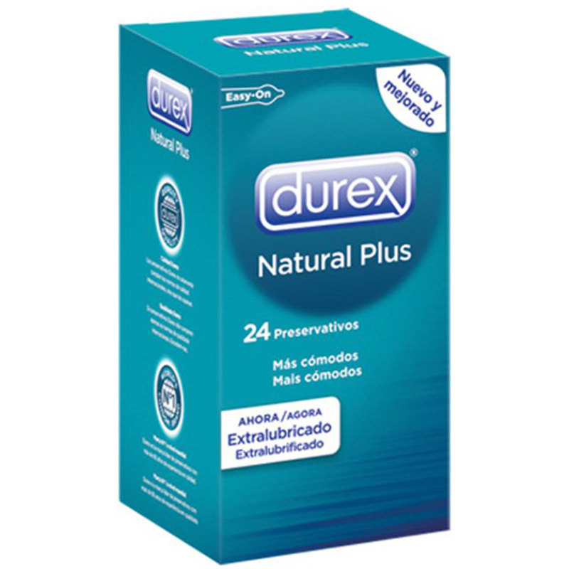 DUREX NATURAL PLUS 24UDS