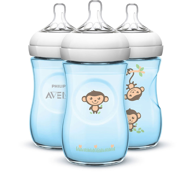 AVENT BIBERON NATURAL DECORACION MONOS 260 ML